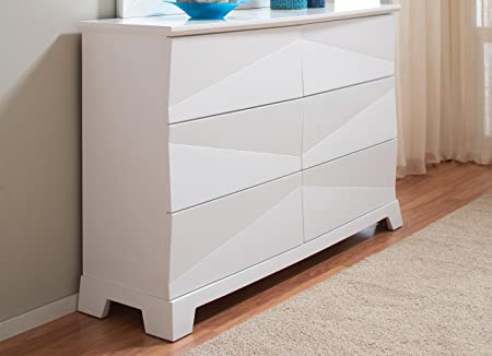 Dresser with Asymmetrical Facets