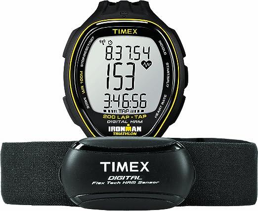 心率带+INDIGLO背光+ TapScreen,Timex Ironman Target Trainer Heart Rate Monitor T5K726 天美时铁人三项系列心率表-奢品汇 | 海淘手表 | 腕表资讯