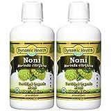 Dynamic Health Noni Juice, Tahitian Morinda Citrifolia, 32 Ounces (Pack of 2) (packaging may vary) (Tamaño: Pack of 2)