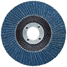 "Weiler Tiger Abrasive Flap Disc, Type 27, Round Hole, Phenolic Backing, Zirconia Alumina, 4-1/2"" Dia., 40 Grit (Pack of 1)"