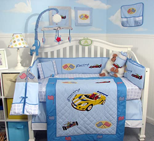Car Crib Sheet : Race car crib bedding tktb