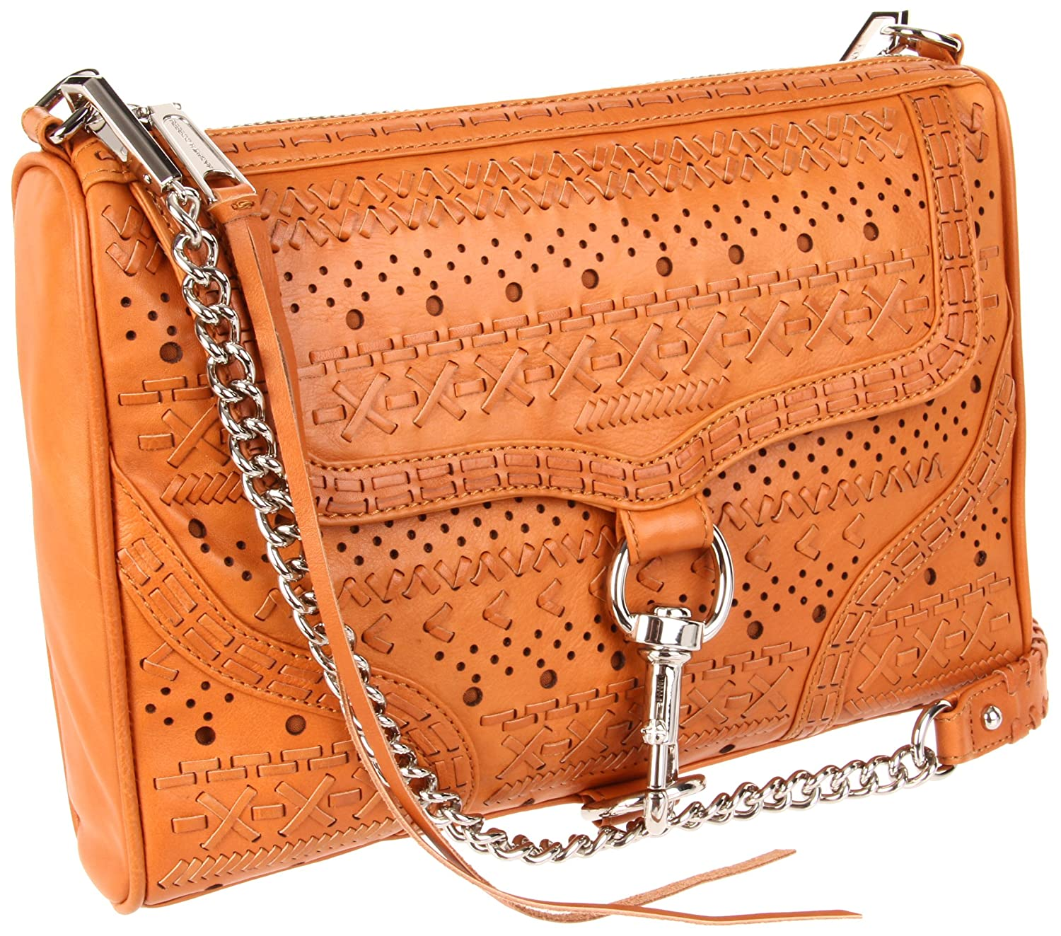 Rebecca Minkoff Mac Perf Weave Clutch,Natural,One Size $248.85