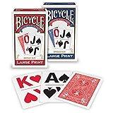Bicycle 1026098  Large Print Playing Cards (Tamaño: 1-Pack)