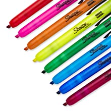 Sharpie Retractable Highlighters, Assorted Colors, 8 Pack (28101)