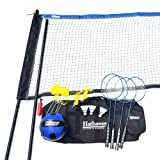 Hathaway Volleyball/Badminton Complete Combo Set White (Color: White, Tamaño: Net: 32' x 3'; 1.5