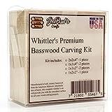 Whittler's Premium Basswood Carving Blocks Kit - Best Whittling Kit for Kids - Preferred Soft Wood Block sizes included - Made in the USA