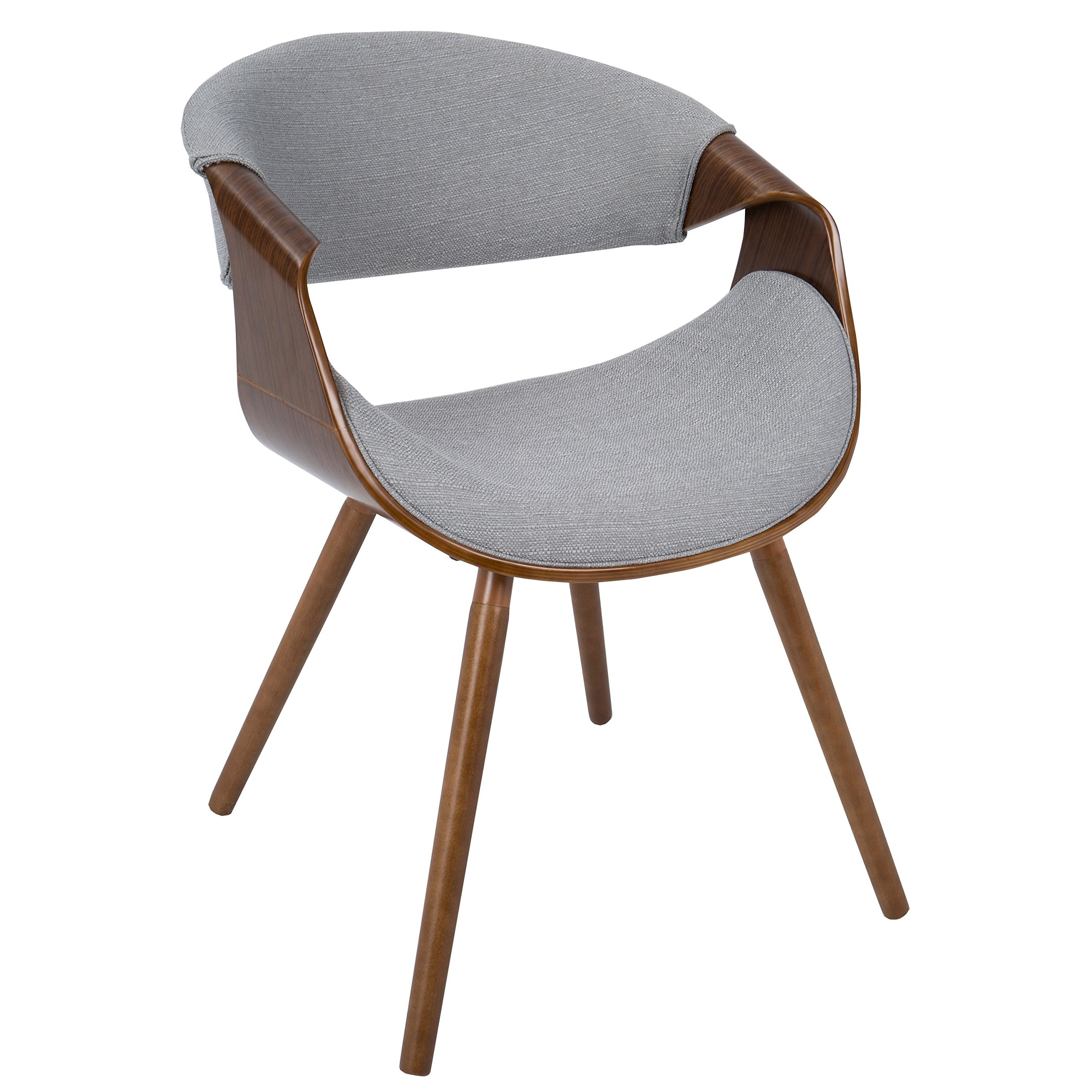 Mid century modern retro flair legs curved back accent for Retro modern dining chairs