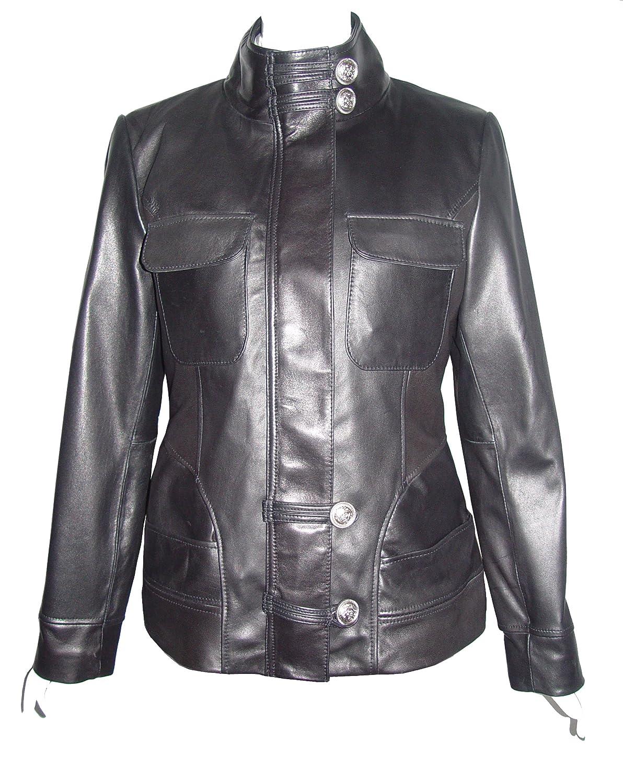 Nettailor WoHerren 4192 weich Leder l?ssig JackeChina Kragen Klappe Brust Tasche jetzt bestellen