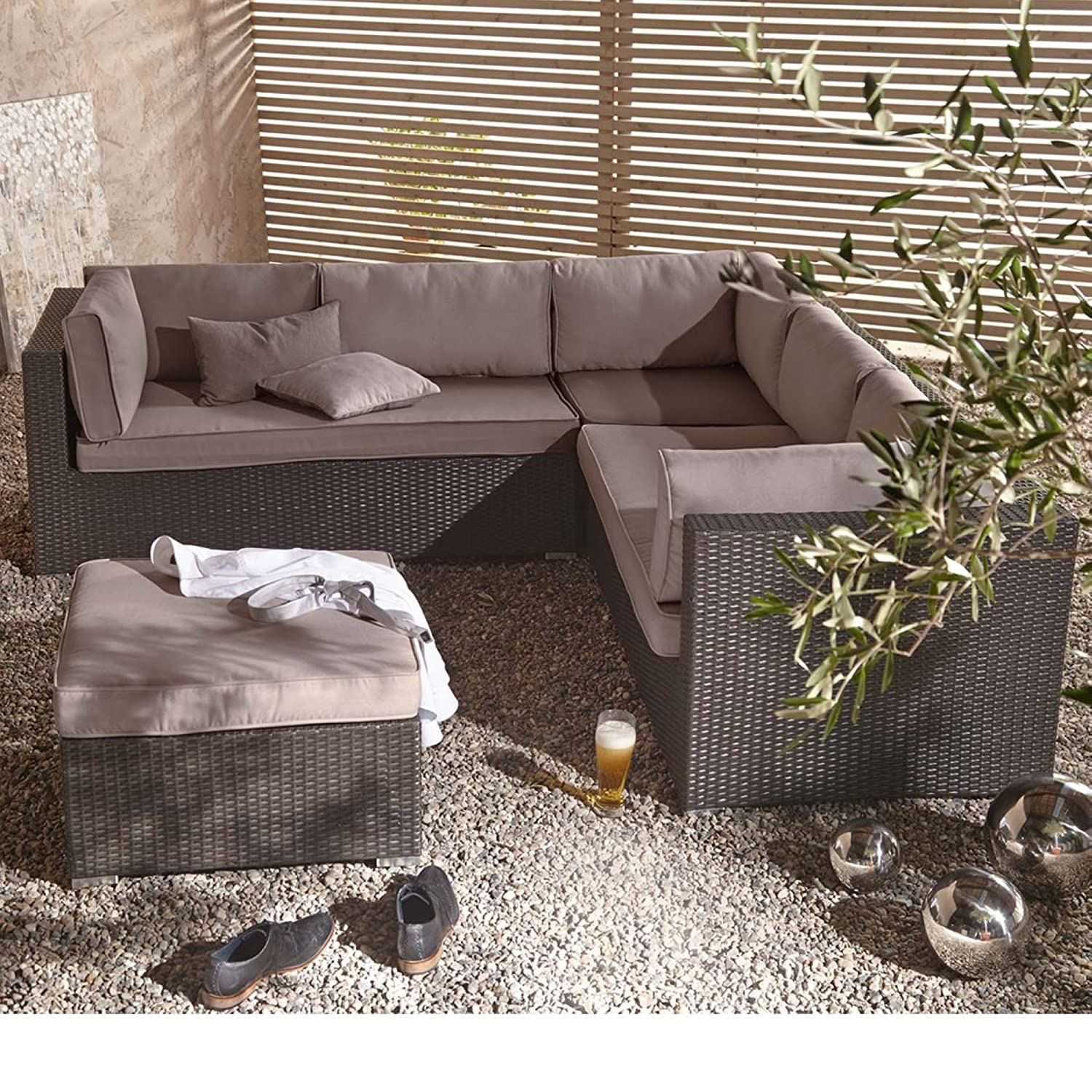 gartenm bel set aus kunstrattan inkl auflagen 4 teilig online bestellen. Black Bedroom Furniture Sets. Home Design Ideas