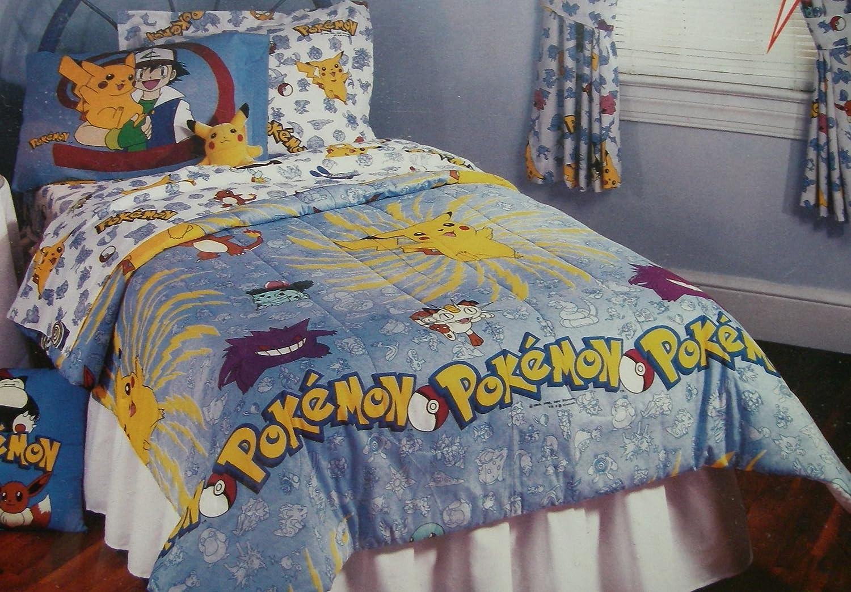 Pokemon Bed Set VINTAGE 1999 Pokemon Pillow Case Pikachu