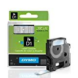 DYMO Standard D1 45020 Labeling Tape (White Print on Clear Tape, 1/2' W x 23' L, 1 Cartridge), DYMO Authentic