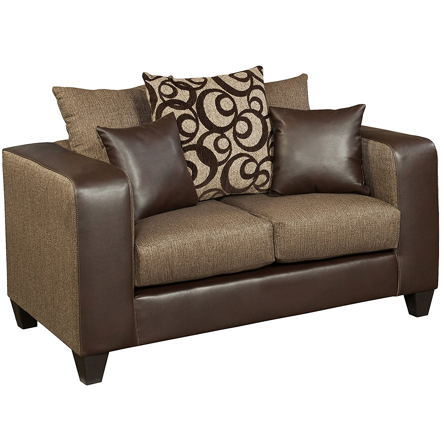 Flash Furniture Riverstone Object Espresso Chenille Loveseat - Brown