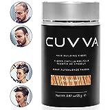 CUVVA Hair Fibers - Hair Loss Concealer for Thinning Hair - Keratin Hair Building Fiber for Men & Women - Instant Thicker Hair - 0.87oz - Light Brown (Color: Light Brown, Tamaño: 0.87oz/25g)