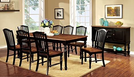 Furniture of America Antha 9-Piece Country Style Duo-Tone Dining Set
