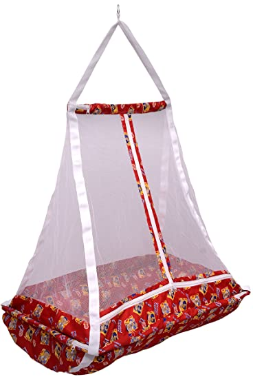 Image result for Baby Hanging Cradle Jhula Jhoola Swing With Top and With Mosquito net