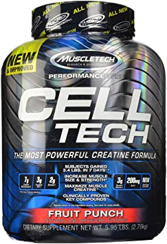 Muscletech Cell-Tech - Fruit Punch, 1er Pack (1 x 2.7 kg)