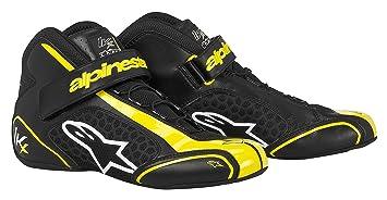 ALPINESTARS 2712113-15 Chaussures Kart, Noir/Jaune, Taille : 9
