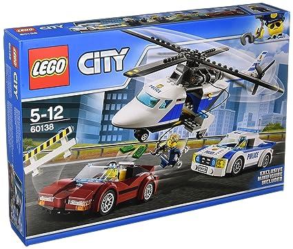 LEGO - 60138 - City - Jeu de construction  - La Course-Poursuite en Hélicoptère