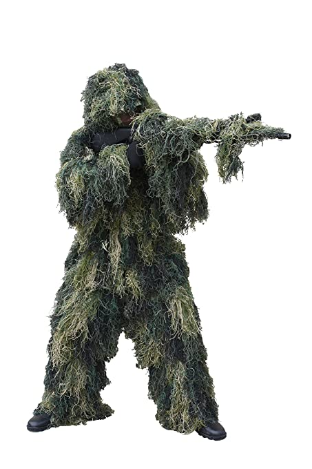 Red Rock Gear Woodland Camouflage 3 Dimensional Ghillie Suit