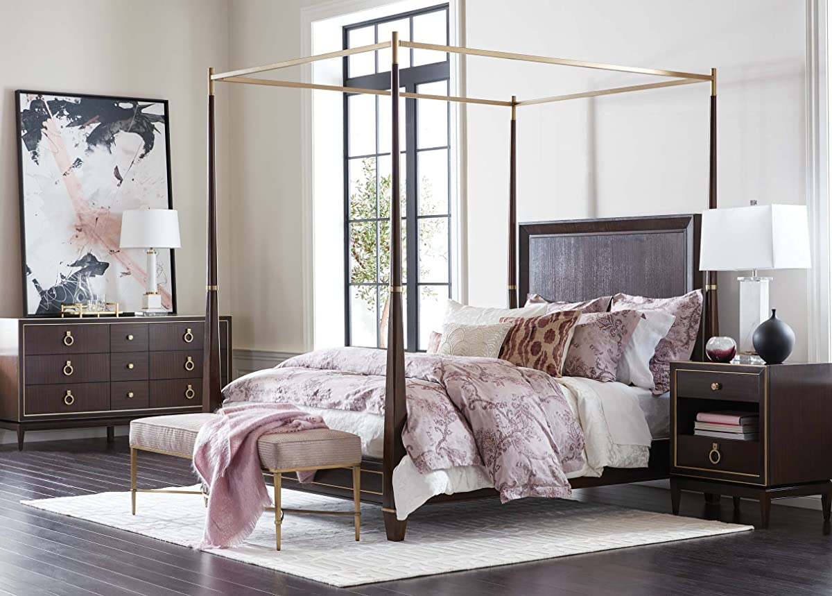 Ethan Allen Andover Poster Bed, King, Hickory