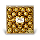 Ferrero Rocher Fine Hazelnut Chocolates, 24 Count, Chocolate Gift Box for Valentines Day Candy, 21.2 oz (Color: Yellow, Tamaño: 24 Count)