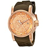 Invicta Men's 12791 S1 Rally Analog Display Japanese Automatic Brown Watch (Color: gold)