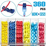 Self-Stripping Quick Splice Wire Connectors and Fully Insulated Male Spade Terminals Connectors Kit FULARR 60Pcs 30 Pairs Premium T-Tap Wire Terminals Blue