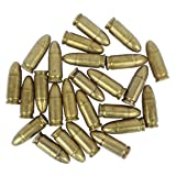 25 Replica Bullets - MP 40 Submachine Gun Denix Dummy Ammo Cartridge Rounds - 9mm