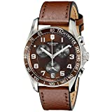 Victorinox Swiss Army 241498 Chrono Classic Watch with Brown Dial and Brown Leather Strap (Color: Brown Dial, Brown Leather Strap, Tamaño: 41MM)