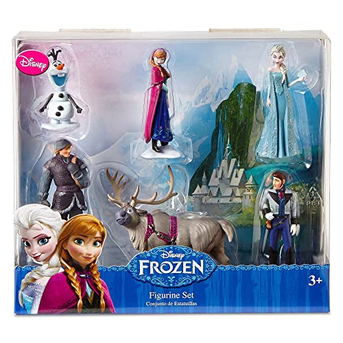Disney Frozen 6 pc Figurine Figure Set Sven Hans Anna Elsa Kristoff and Olaf