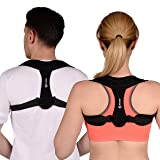 Posture Corrector Brace for Women & Men with Adjustable Shoulder Straps - Comfortable Back Brace for Clavicle Support & Improving Bad Posture & Healing Medical Problems & Relaxing Back Pain by Mymer