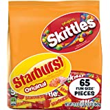 SKITTLES & STARBURST Halloween Candy Fun Size Variety Mx 31.9-Ounce Bag 65 Pieces (Tamaño: 31.9oz (65ct Fun Size))