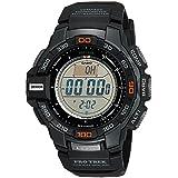 Casio Men's Pro Trek PRG-270-1 Tough Solar Triple Sensor Multifunction Digital Sport Watch (Color: Black/Grey, Tamaño: NO SIZE)