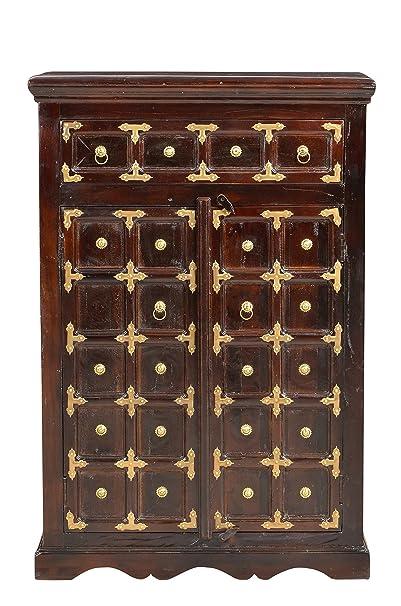 Sit-Möbel 7469-30 suite cómoda de pared, acabado antiguo, madera VIEJA RECICLADA, 80 x 40 x 120 cm, marrón