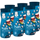 Gerber Graduates Puffs Cereal Snack, Apple Cinnamon, Naturally Flavored with Other Natural Flavors, 1.48 Ounce, 6 Count (Tamaño: 6 Count)