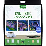 Crayola Mini Canvas Painting Kit, DIY Marbleizing, Unique Gifts for Crafters, 14Piece (Color: Multi)