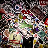 (Not Random)100 Piece Skateboard Stickers Vintage Vinyl Laptop Luggage Decals Dope Sticker Mix Lot (Color: Muilty, Tamaño: 6-12cm)