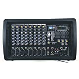 GTD-Audio 8 Channel 4000Watt Professional Powered Mixer Amplifier (1000 Watt RMS ) (Color: Black)