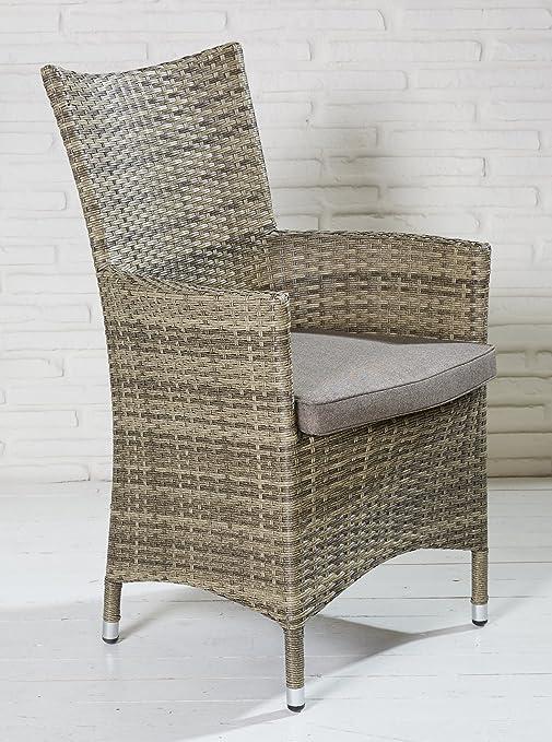 4x Outsunny-Silla de jardín ratán silla de jardín Sillas Muebles de Jardín Jardín-Sillón de relax Sillón jardín Sillas Balcón silla