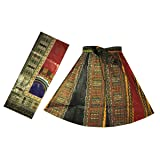 Decoraapparel Girls African Wax Skirt Ankara Print Vintage Kid Sizes 3T To 5T One Size (P57 Multicolor)