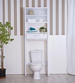 Topkit mueble de ba o sobre inodoro muy practico para for Amazon muebles de bano