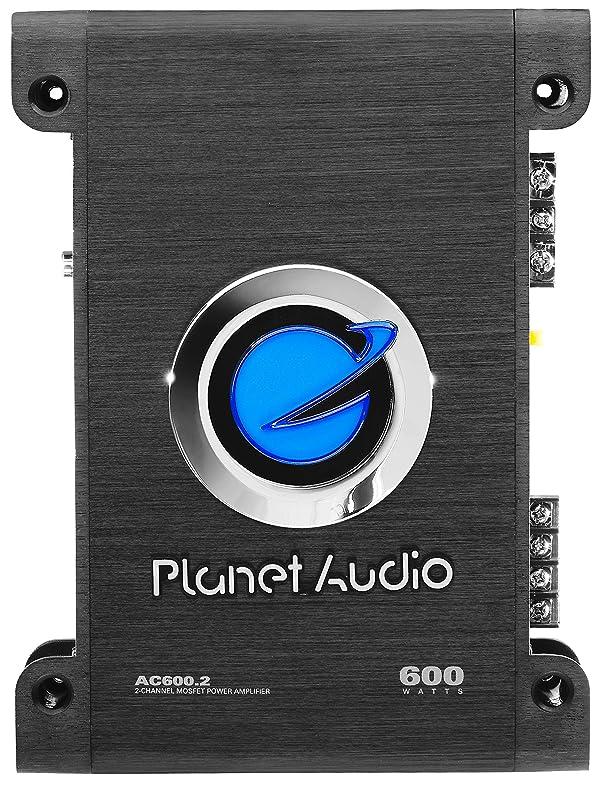 Planet Audio AC600.2 Anarchy 600 Watt, 2 Channel, 2/4 Ohm Stable Class A/B, Full Range, Bridgeable, MOSFET Car Amplifier