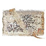 Mandala Crafts Elastic Sequin, Flat Glitter Stretch Bling Paillette Fabric Ribbon, Metallic Appliqué Trim Lace for Dress Embellish, Headband (1 Inch, Champagne) (Color: Champagne, Tamaño: 1 Inch)