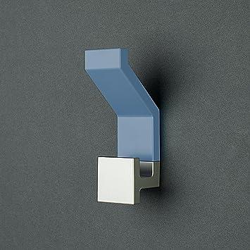 Attaccapanni In Plastica.3 Appendiabiti Square By Kreall Colore Azzurro Confezione Da N 3