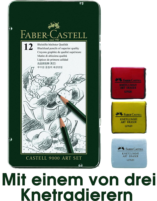 Faber Castell Bleistifte mit Knetradierern
