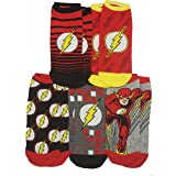 DC Comics The Flash Barry Allen 5 Pack Ankle Socks Multi Colored Fits Shoe Size 4-10/Foot Size 9-11 (Color: Multi Colored, Tamaño: FL1)