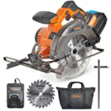 """VonHaus 20V MAX Cordless Circular Saw 6-1/2"""" with Brake and 2x Saw Blades, 3.0Ah Lithium-Ion Battery and Charger Kit Included (Tamaño: Circular Saw)"""