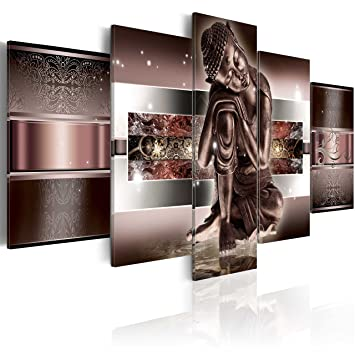 200x100 xxl format impression sur toile images 5 parties bouddha tableau 020113 290 for Peinture special cuisine