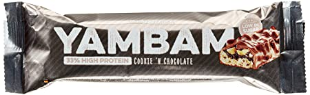 Body Attack YAMBAM Protein Bar, Cookie 'n Chocolate, 15x 80g, 1er Pack (1x 1.2kg)