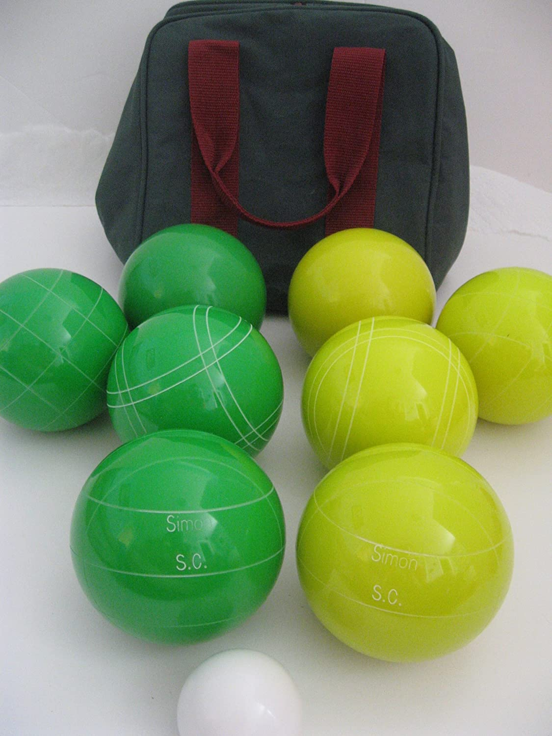 Premium Quality Engraved EPCO Bocce package – 107mm EPCO yellow and Green bal… jetzt bestellen
